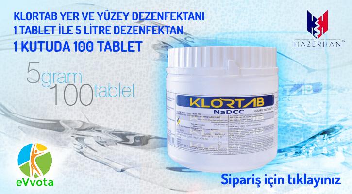 Klortab Dezenfektan 5.0 gr
